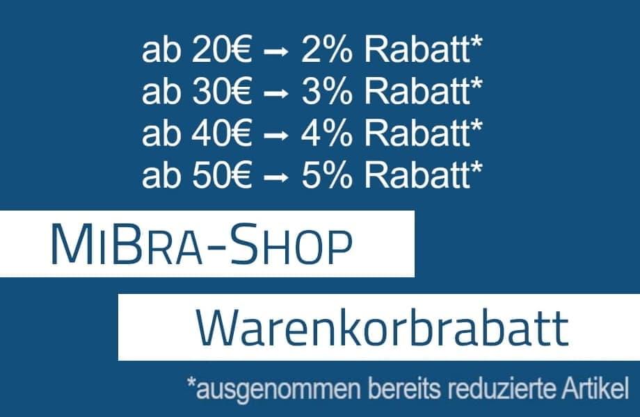 MiBra-Shop Warenkorbrabatt