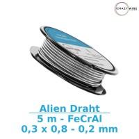 Crazy Wire Aliendraht 0,3x0,8 + 0,2mm - 5m