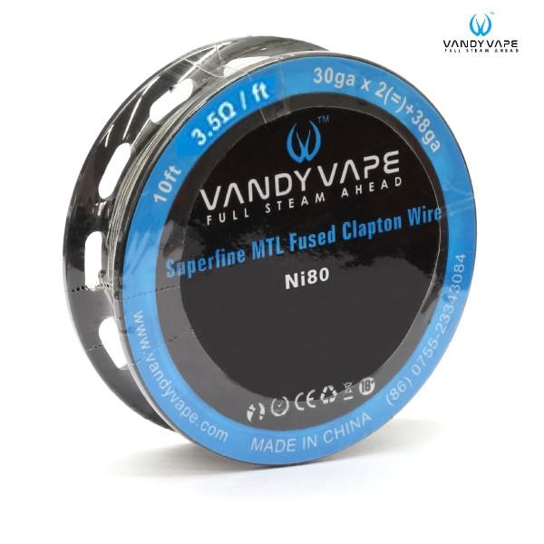 Vandy Vape Superfine MTL Ni80 Fused Clapton - 3m