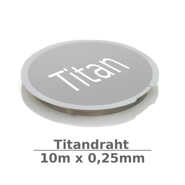 Titandraht 0,25mm 10m