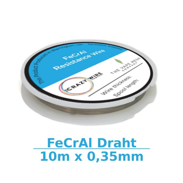 Crazy Wire FeCrAl-Draht A1 10m x 0,35mm