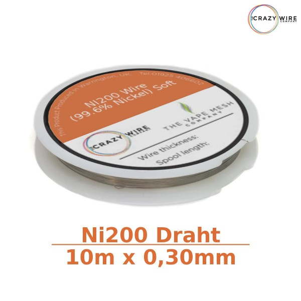 Crazy Wire Ni200 10m x 0,30mm