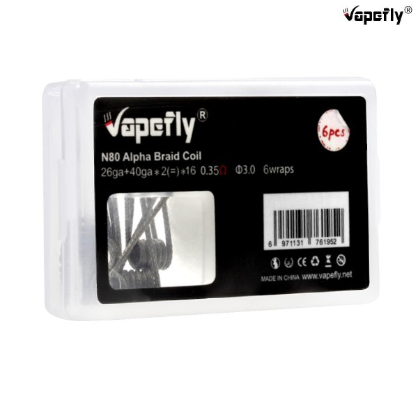 Vapefly Ni80 Prebuild Coils Alpha Braid 0,35Ω 6 Stk.
