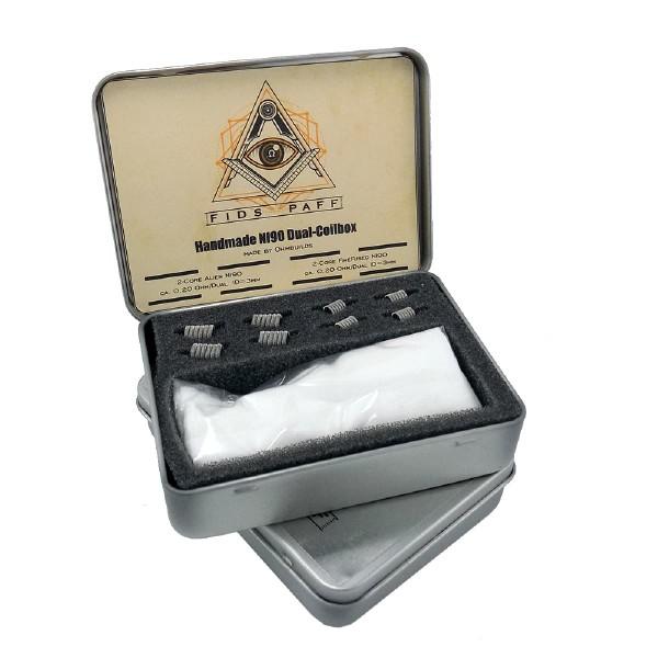 Fids-Paff Handmade Coil Box Ni90 Dual - 8 Stück