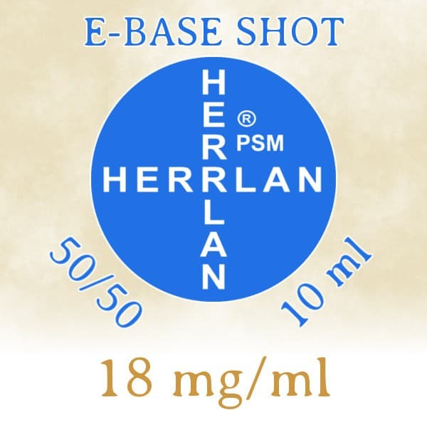 Herrlan E-Base Shot 50/50 10ml - 18 mg/ml