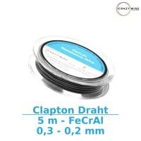Crazy Wire Claptondraht 0,5x0,2mm - 5m