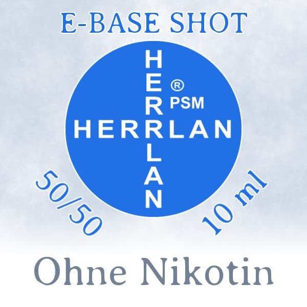 Herrlan E-Base Shot 50/50 5*10ml - 00 mg/ml (Ohne Nikotin)