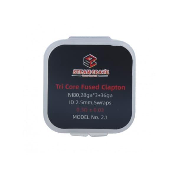 Steam Crave Tri Core Fused Clapton PreBuild Coils 10er Pack